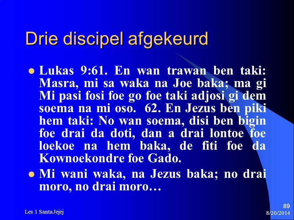 Drie discipel afgekeurd