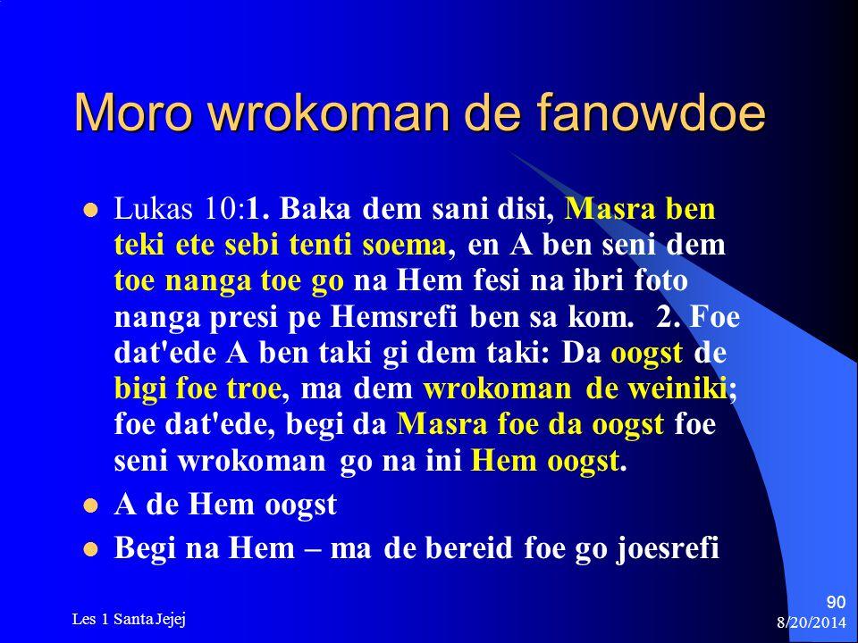 Moro wrokoman de fanowdoe