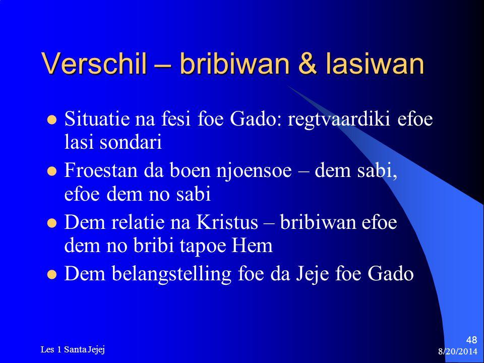Verschil – bribiwan & lasiwan