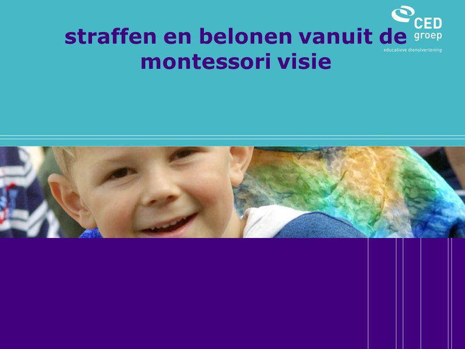 straffen en belonen vanuit de montessori visie
