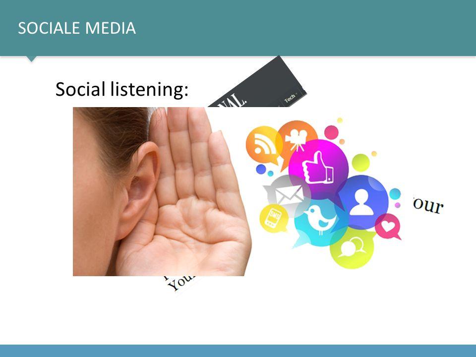 Social listening: Sociale media