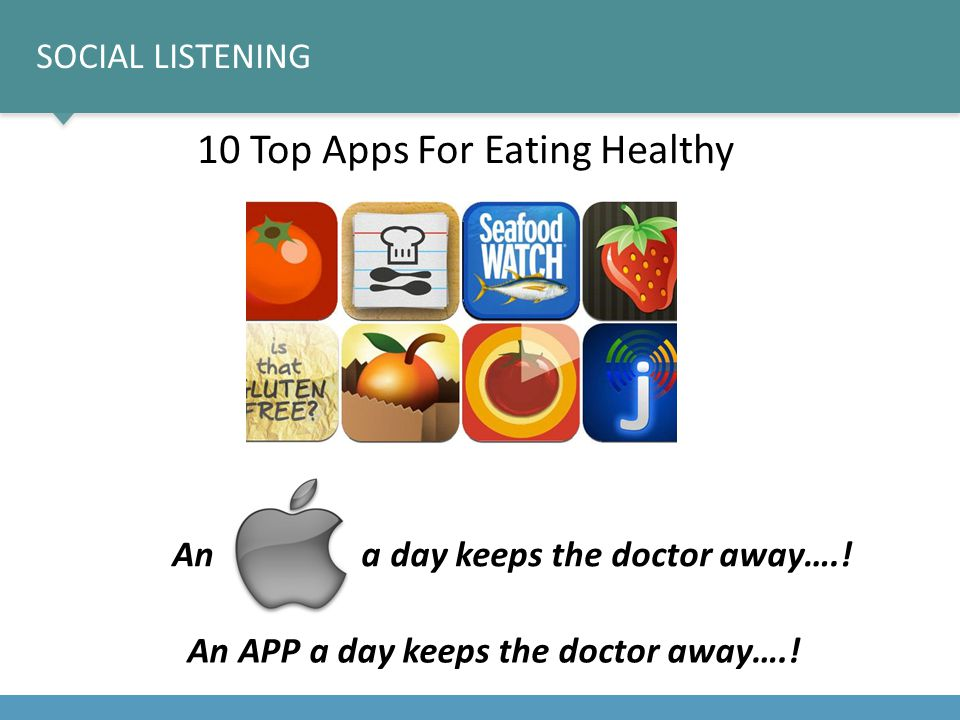 10 Top Apps For Eating Healthy