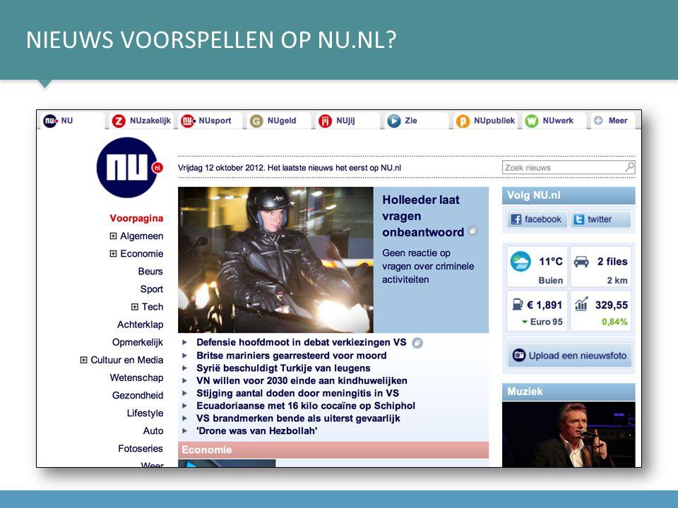 Nieuws voorspellen op nu.nl