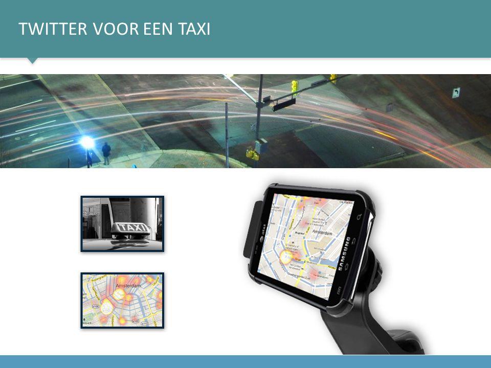 Twitter voor een taxi