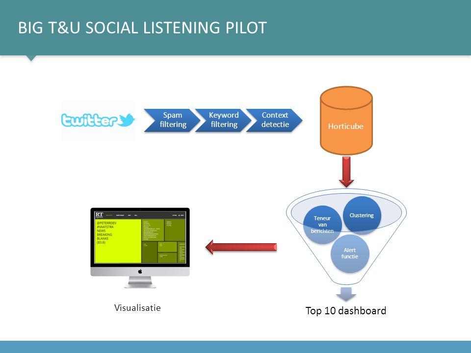 BIG T&U Social listening pilot