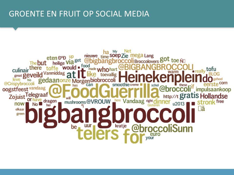 Groente en fruit op social media