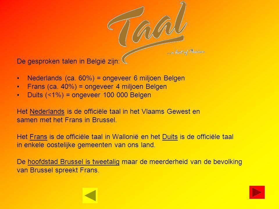 De gesproken talen in België zijn: