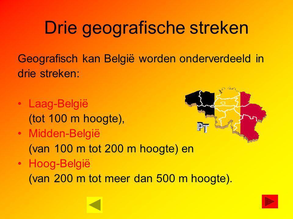 Drie geografische streken