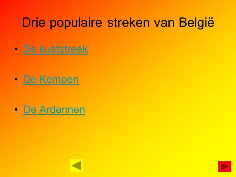 Drie populaire streken van België