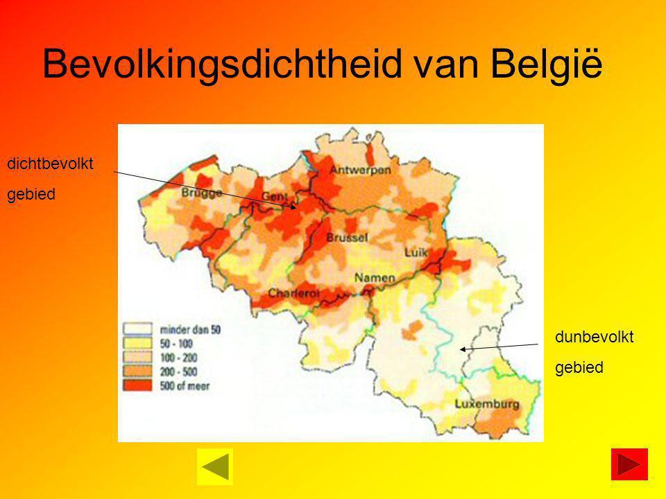 Bevolkingsdichtheid van België