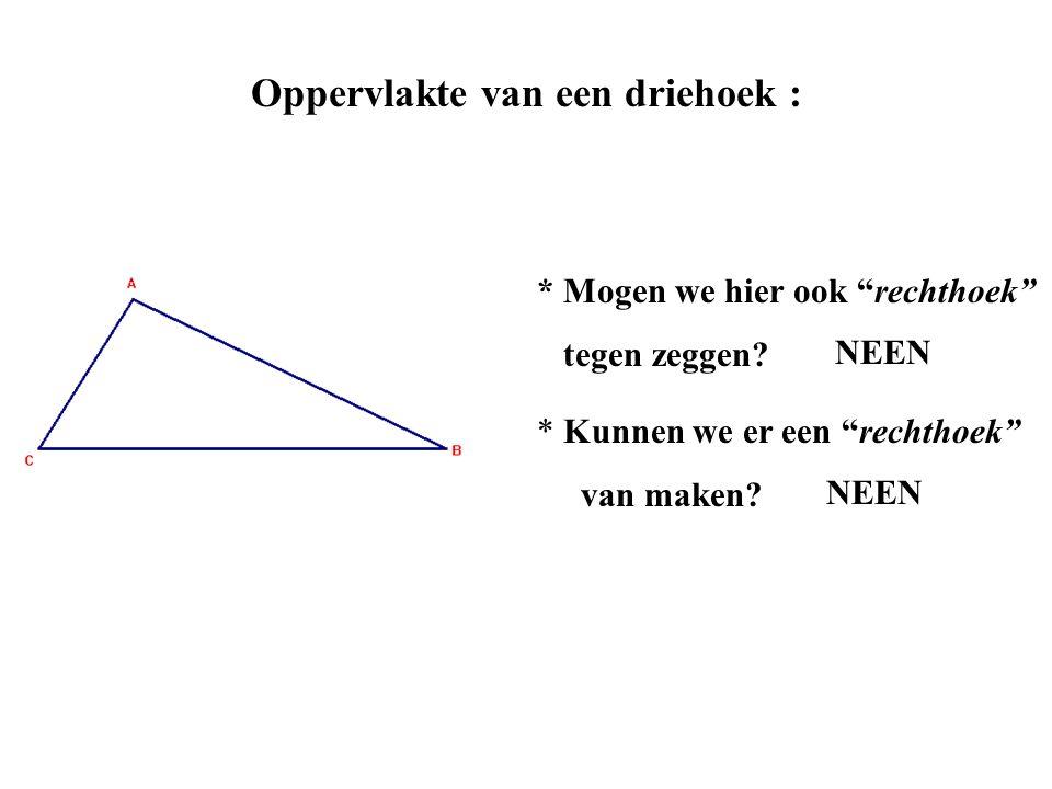 Oppervlakte van een driehoek :