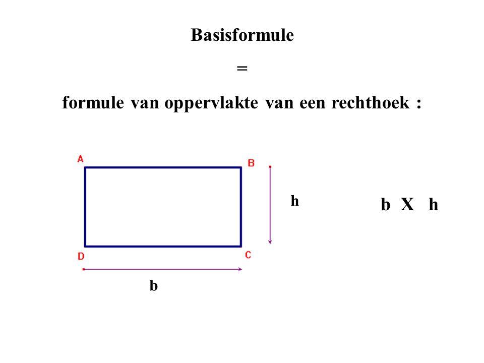 formule van oppervlakte van een rechthoek :