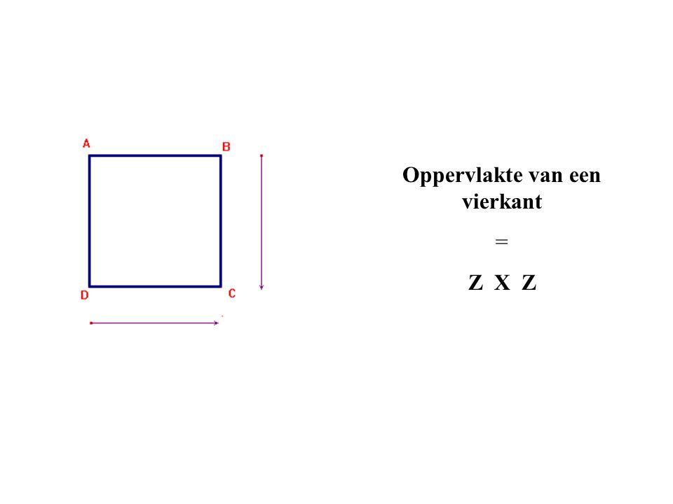 Oppervlakte van een vierkant