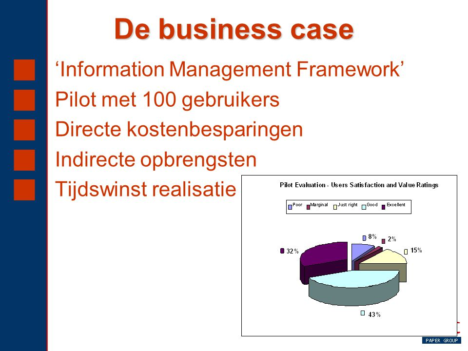De business case 'Information Management Framework'