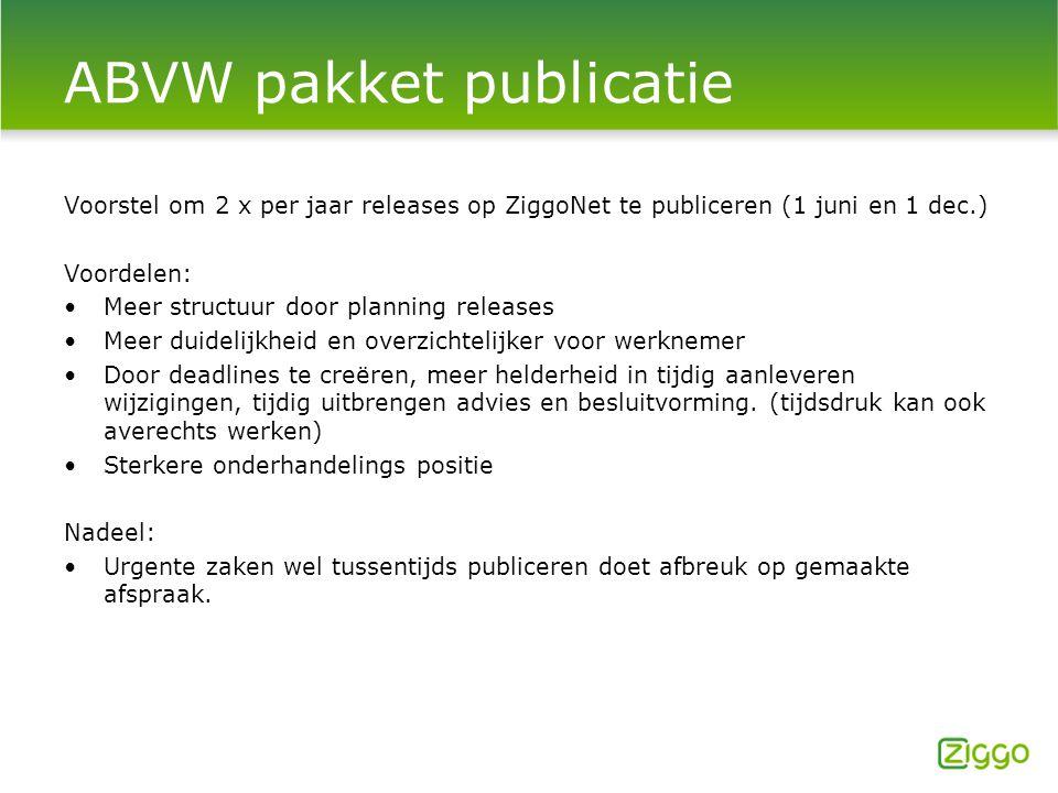 ABVW pakket publicatie