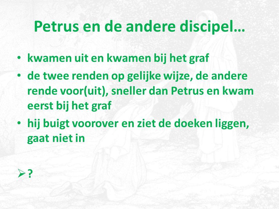 Petrus en de andere discipel…