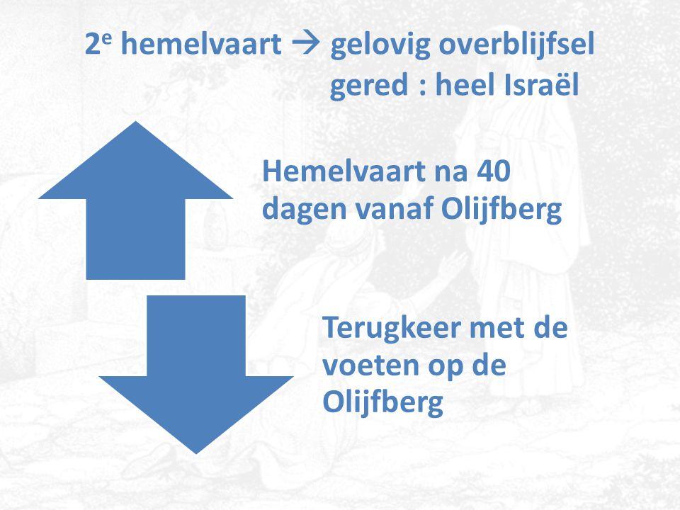 2e hemelvaart  gelovig overblijfsel gered : heel Israël