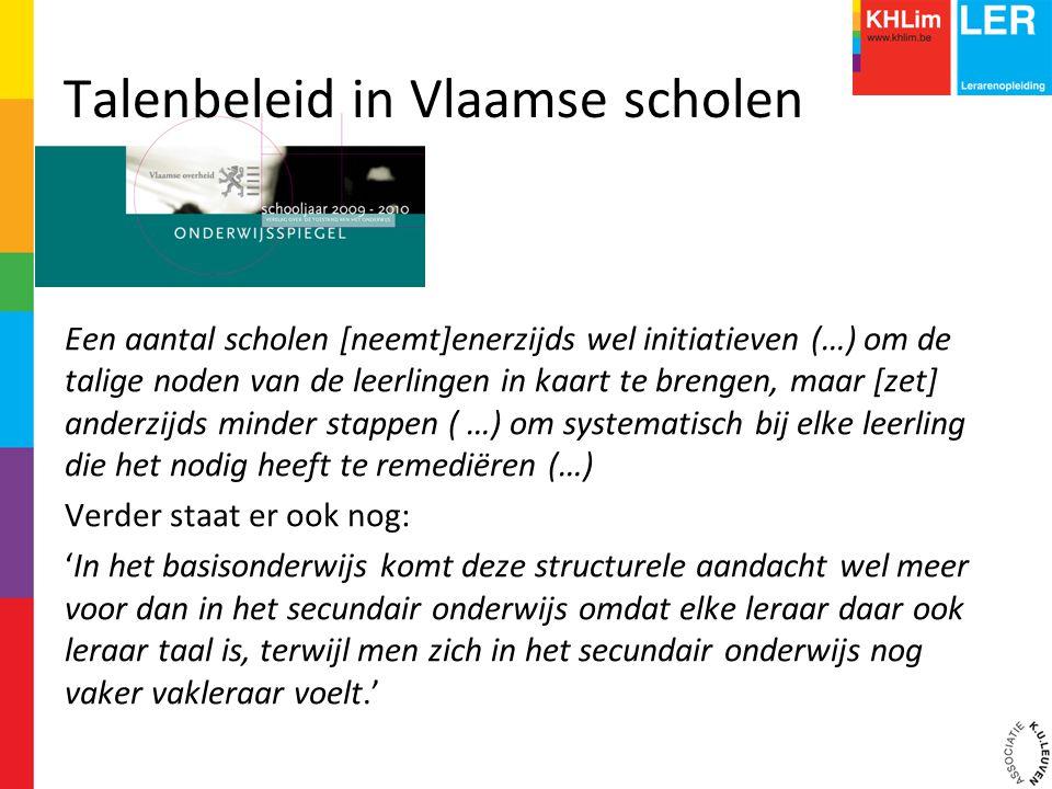 Talenbeleid in Vlaamse scholen