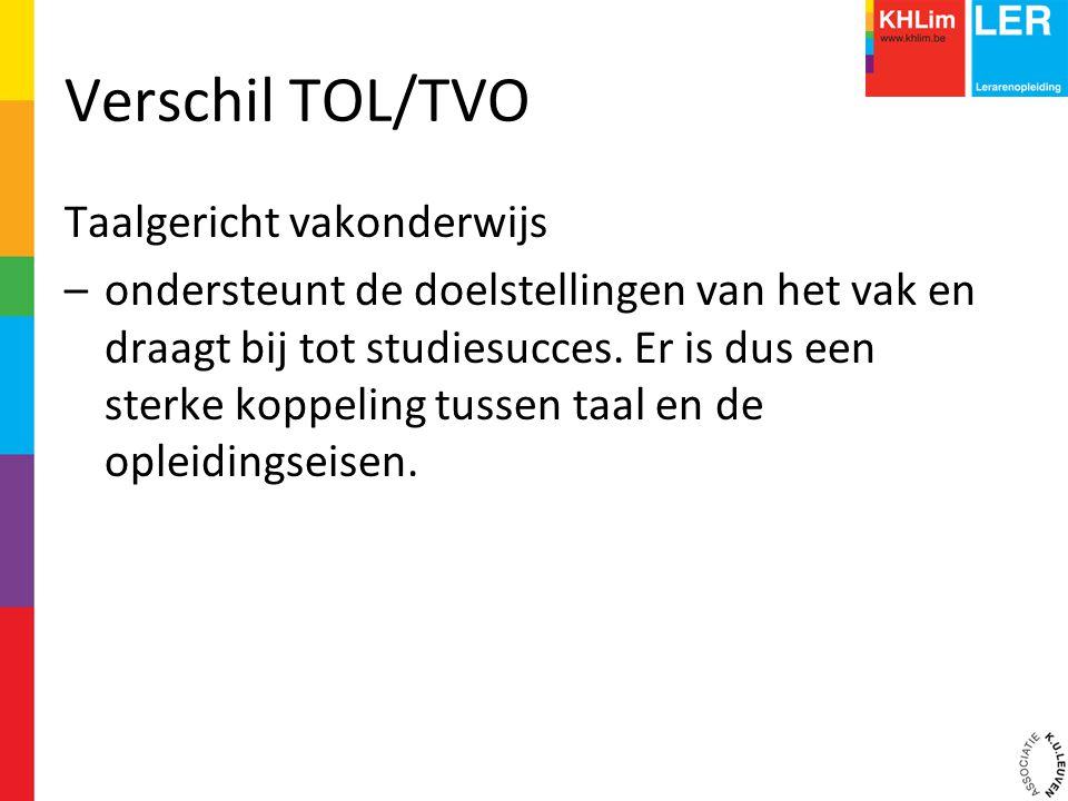Verschil TOL/TVO Taalgericht vakonderwijs