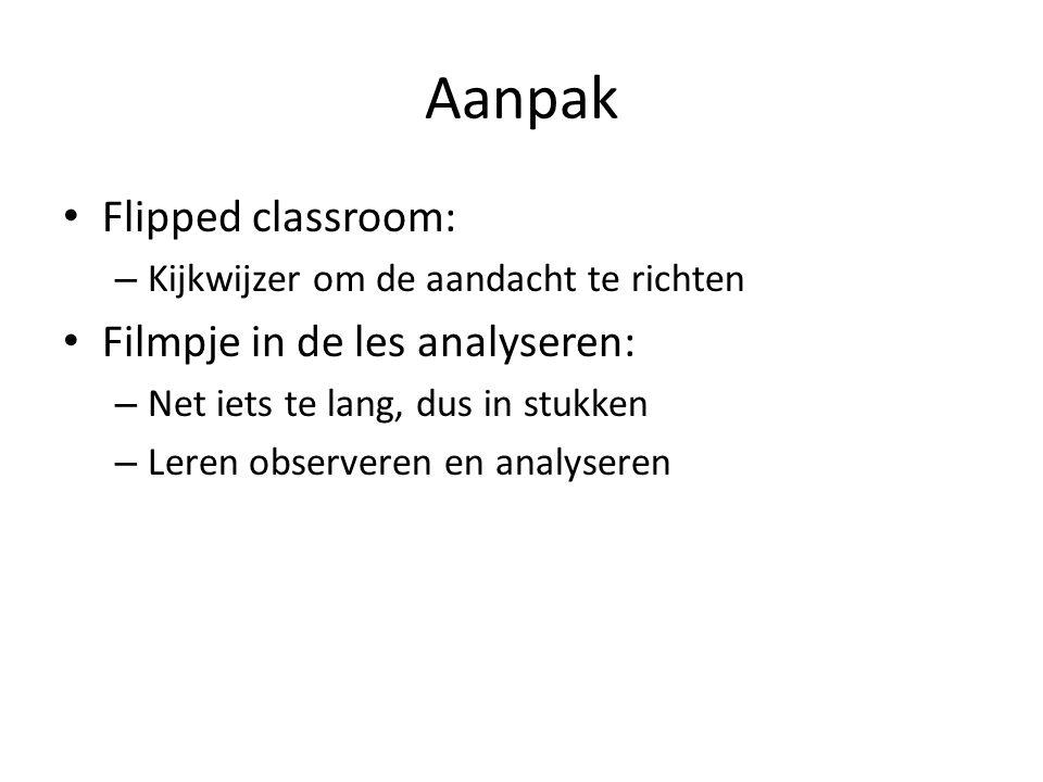 Aanpak Flipped classroom: Filmpje in de les analyseren: