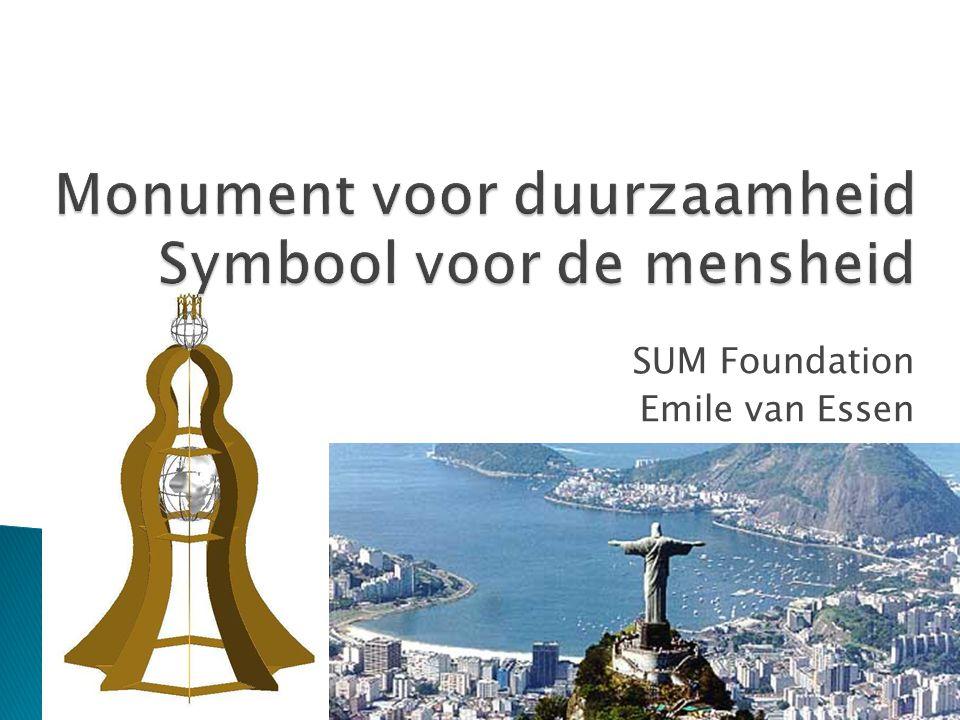 Monument voor duurzaamheid Symbool voor de mensheid