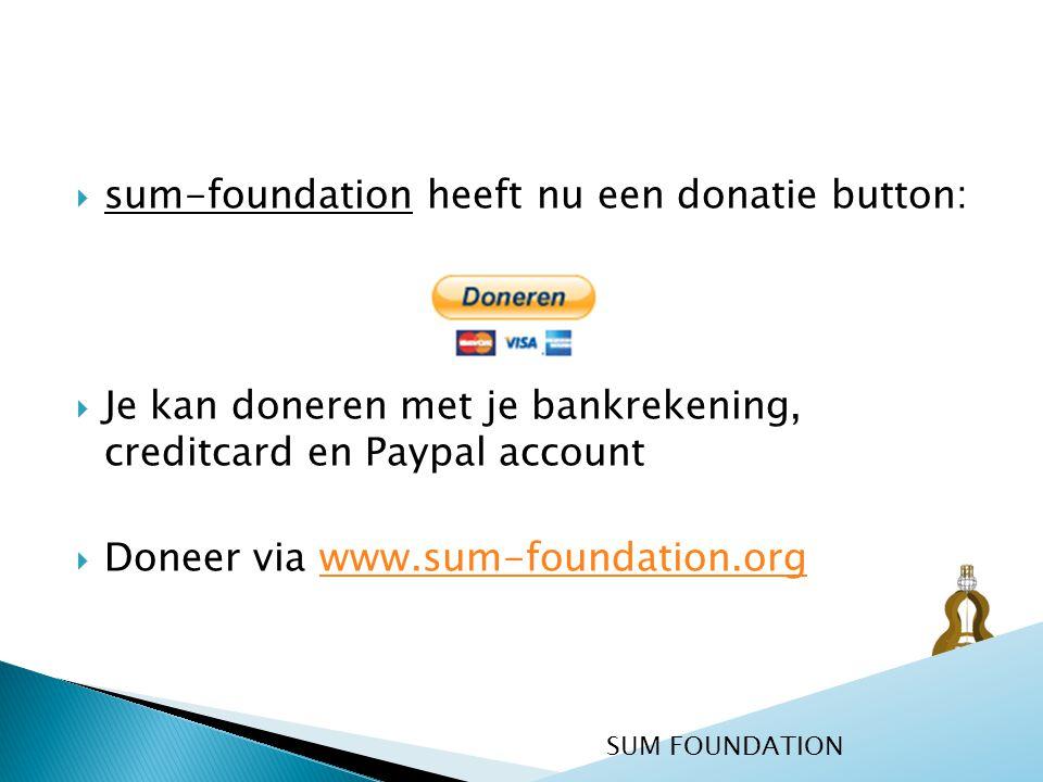 sum-foundation heeft nu een donatie button: