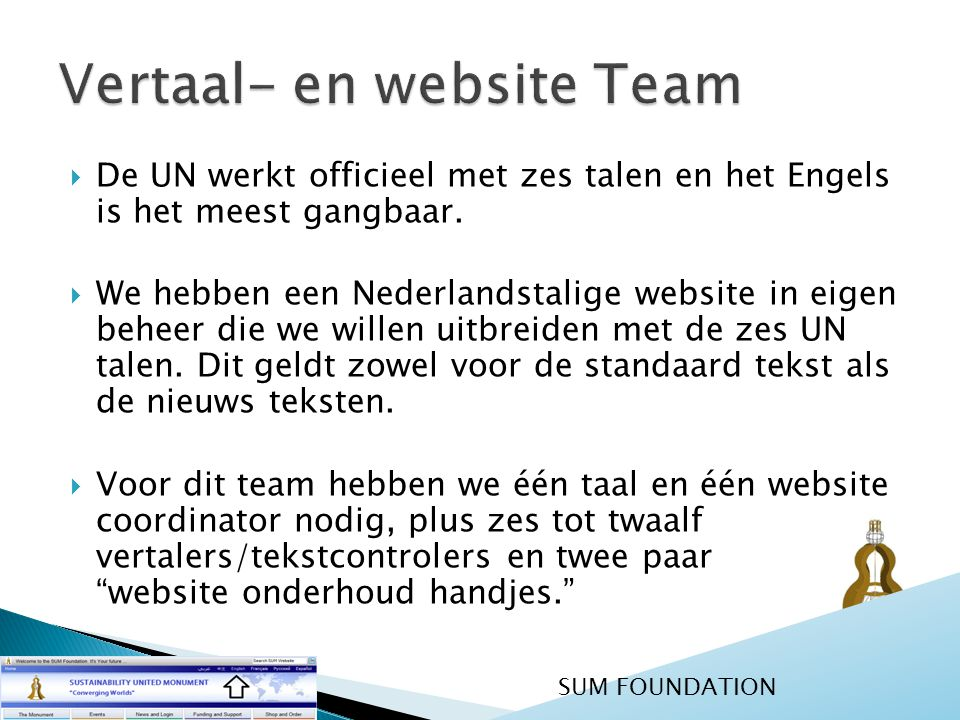 Vertaal- en website Team