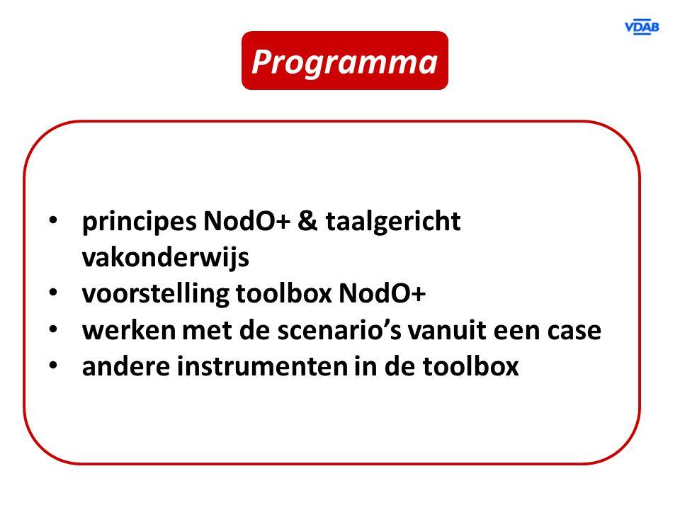 Programma principes NodO+ & taalgericht vakonderwijs