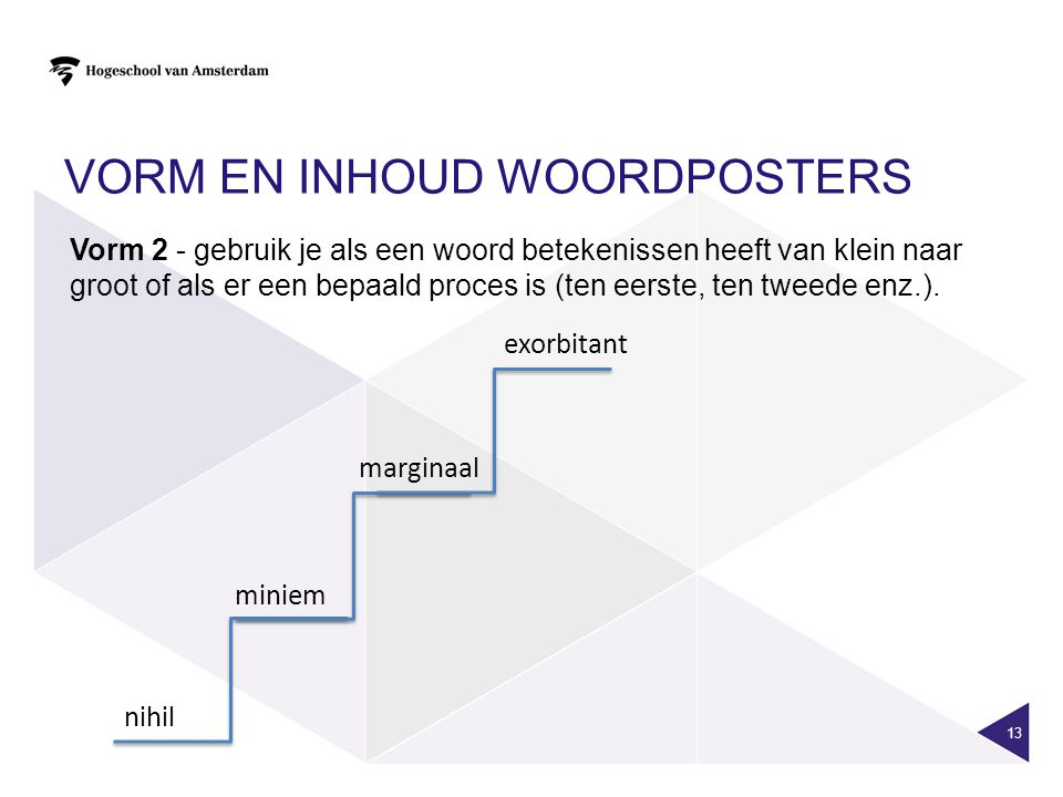 Vorm en inhoud woordposters
