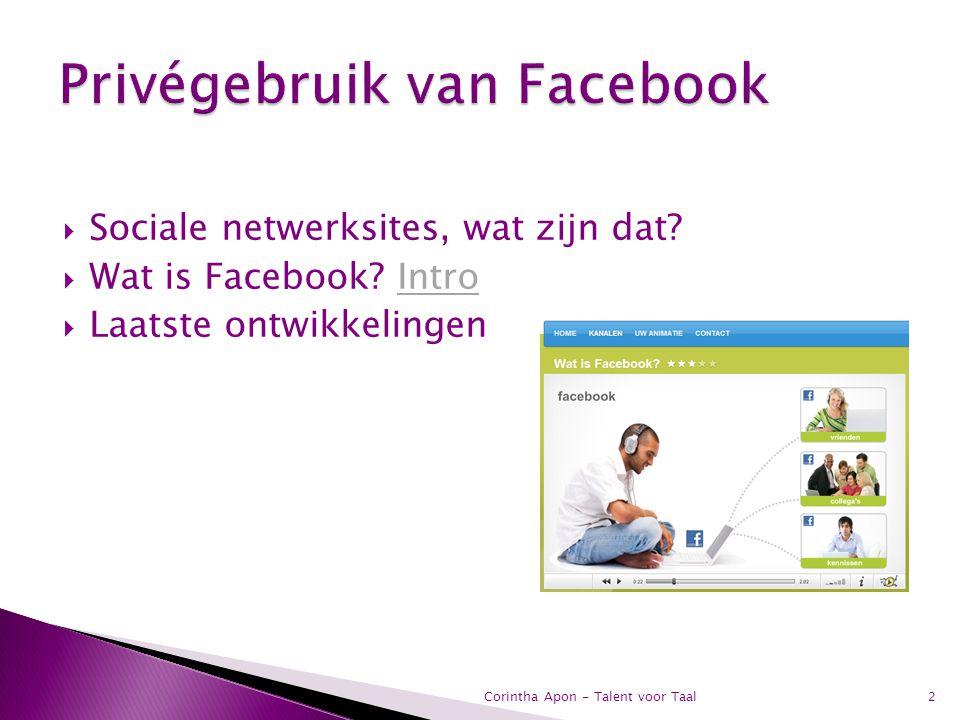 Privégebruik van Facebook