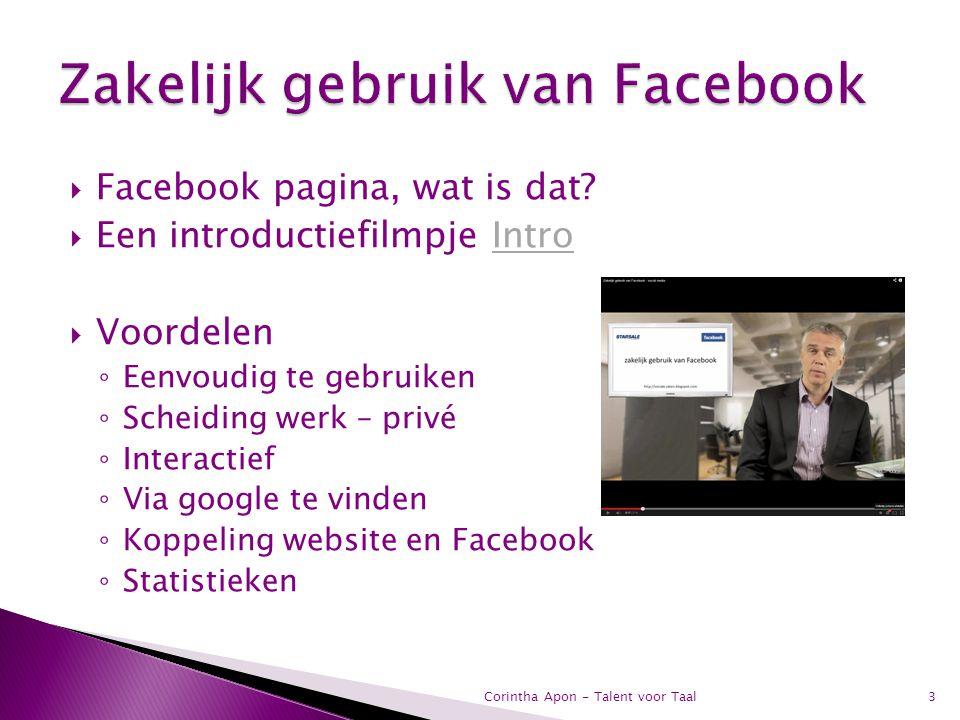 Zakelijk gebruik van Facebook
