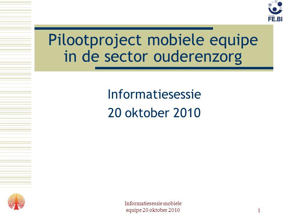 Pilootproject mobiele equipe in de sector ouderenzorg