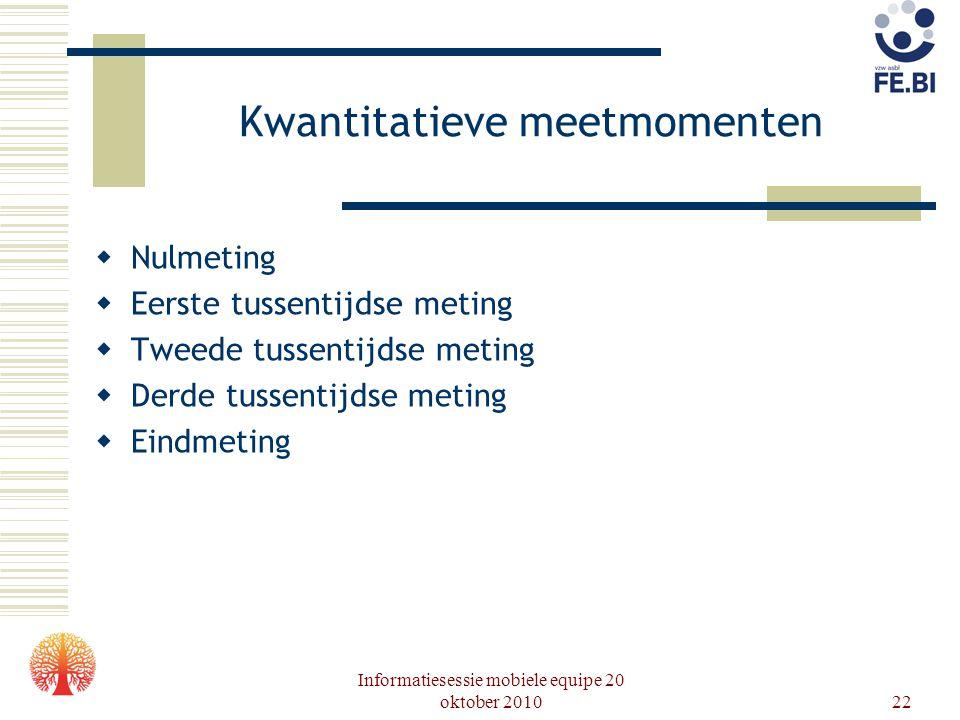 Kwantitatieve meetmomenten