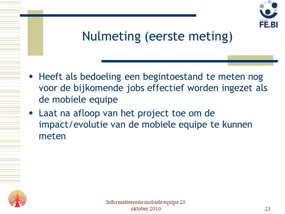 Nulmeting (eerste meting)