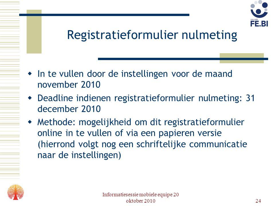 Registratieformulier nulmeting