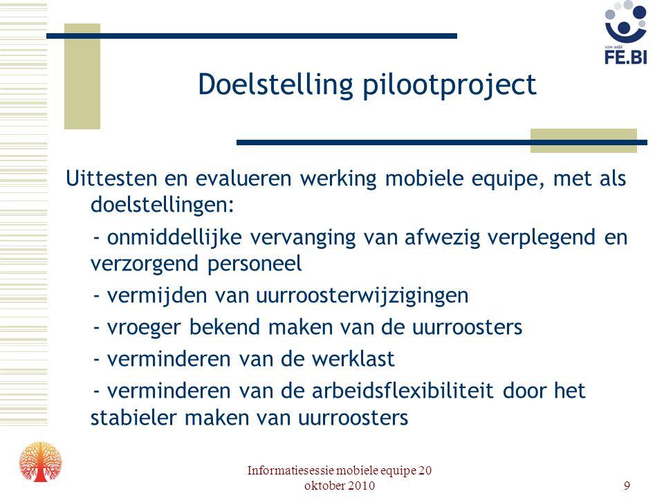Doelstelling pilootproject