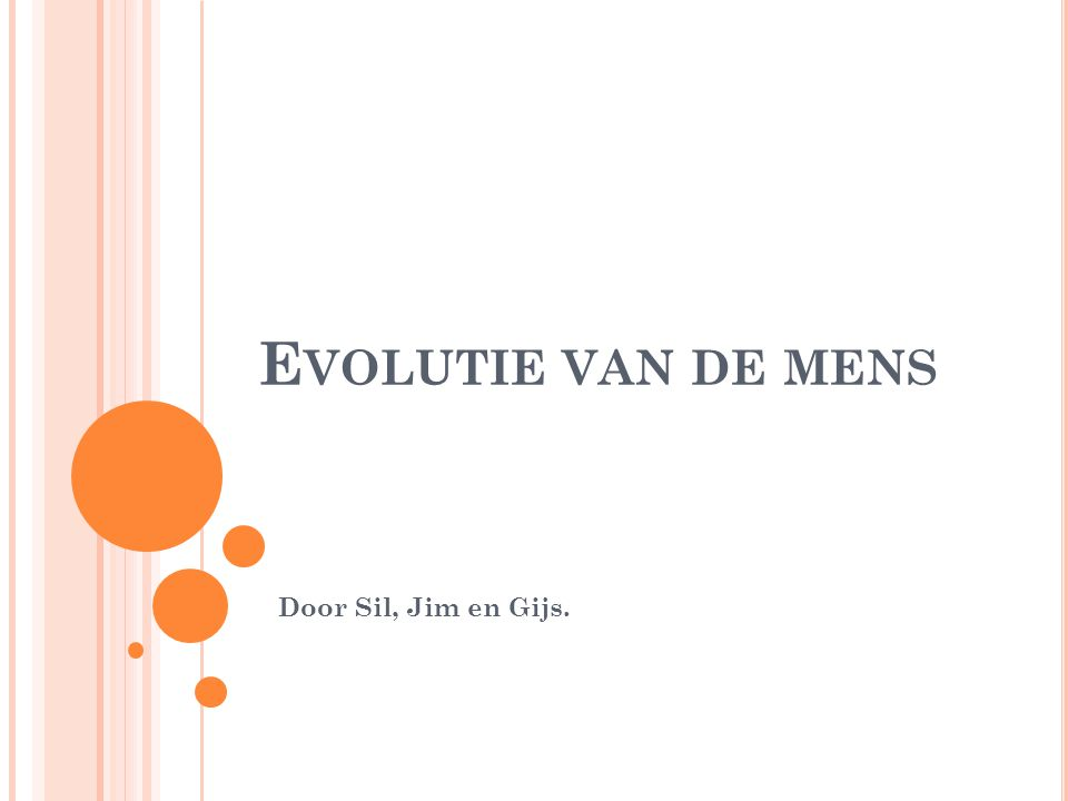 Evolutie van de mens Door Sil, Jim en Gijs.