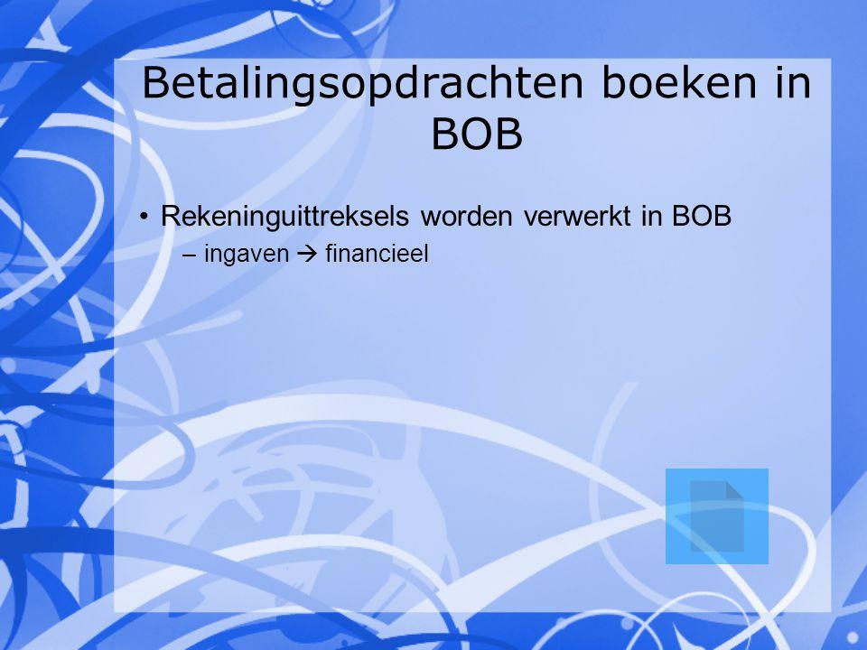 Betalingsopdrachten boeken in BOB