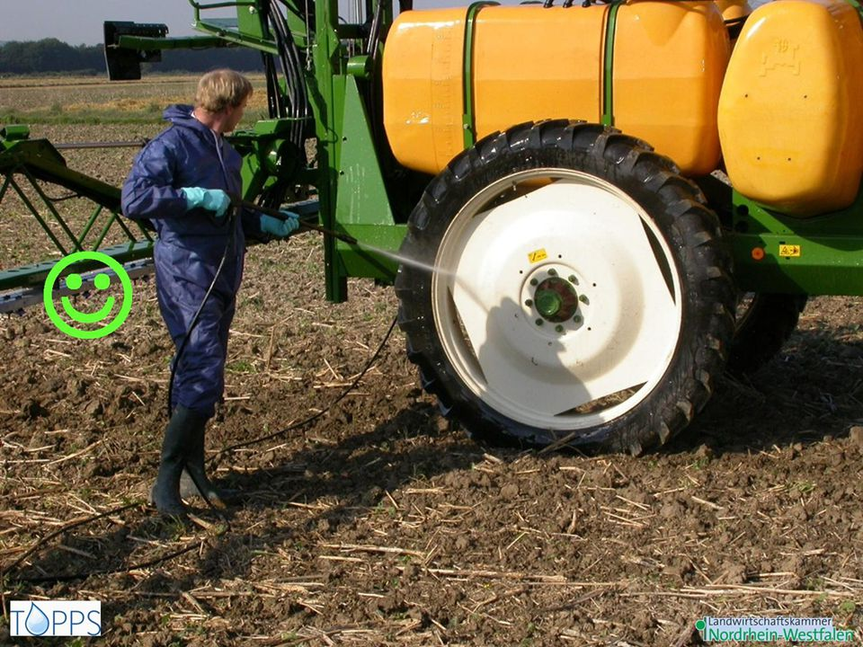 After Equipments for outside cleaning of the sprayer in the field: spray lance – high pressure