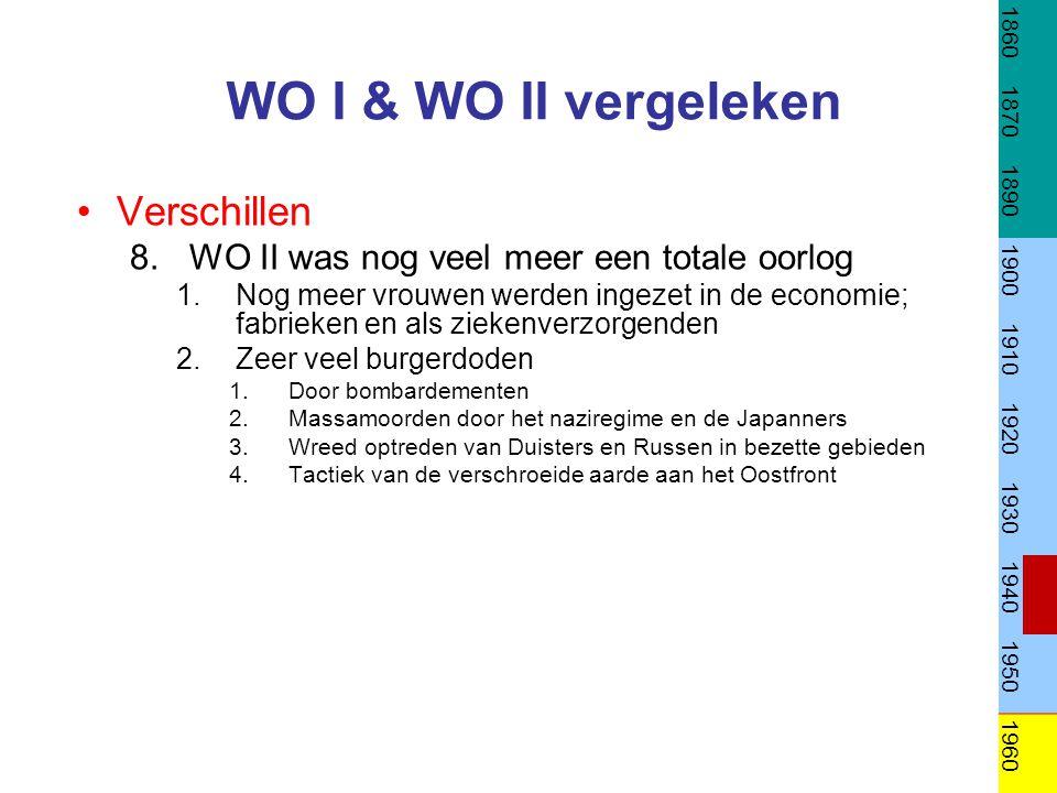 WO I & WO II vergeleken Verschillen