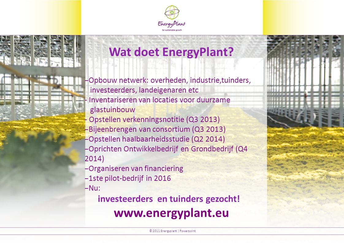 Wat doet EnergyPlant www.energyplant.eu