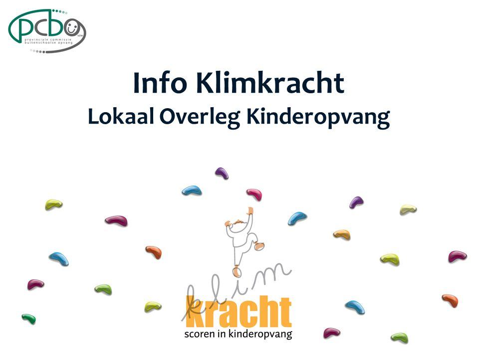Info Klimkracht Lokaal Overleg Kinderopvang