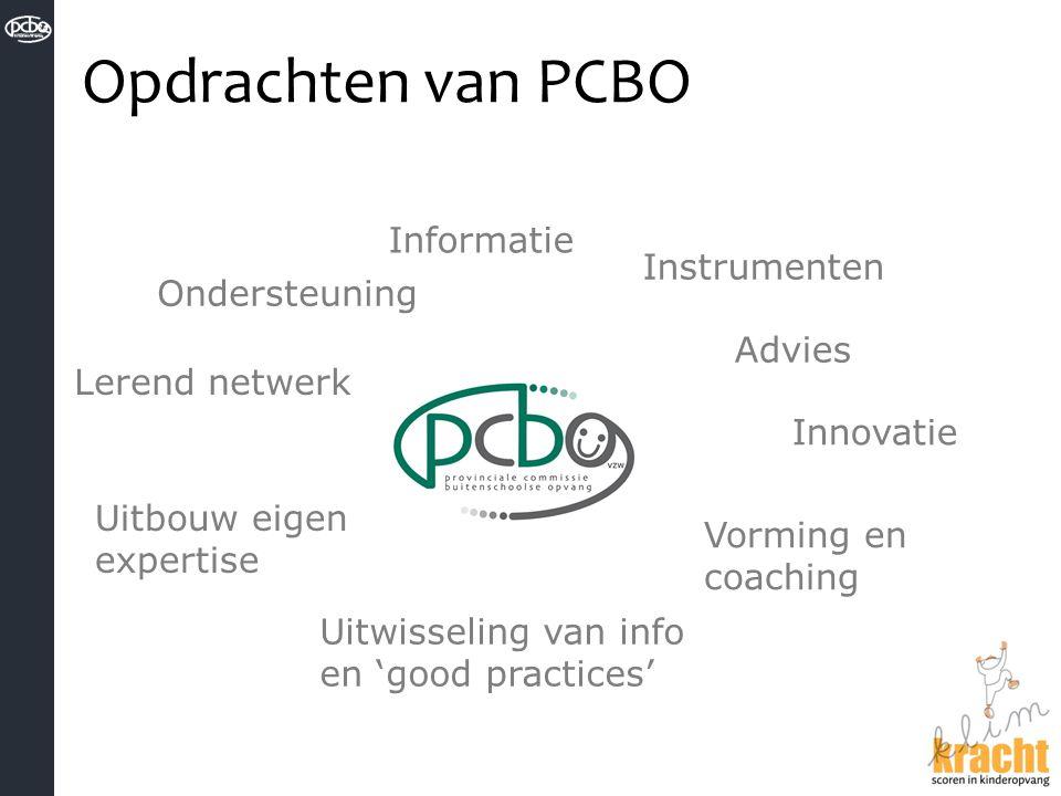 Opdrachten van PCBO Informatie Instrumenten Ondersteuning Advies