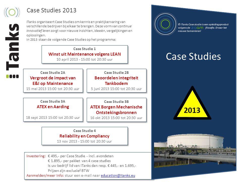 Case Studies Case Studies 2013 Winst uit Maintenance volgens LEAN