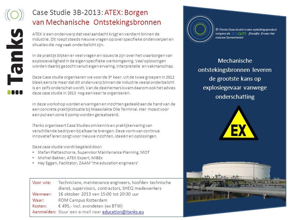 Case Studie 3B-2013: ATEX: Borgen van Mechanische Ontstekingsbronnen
