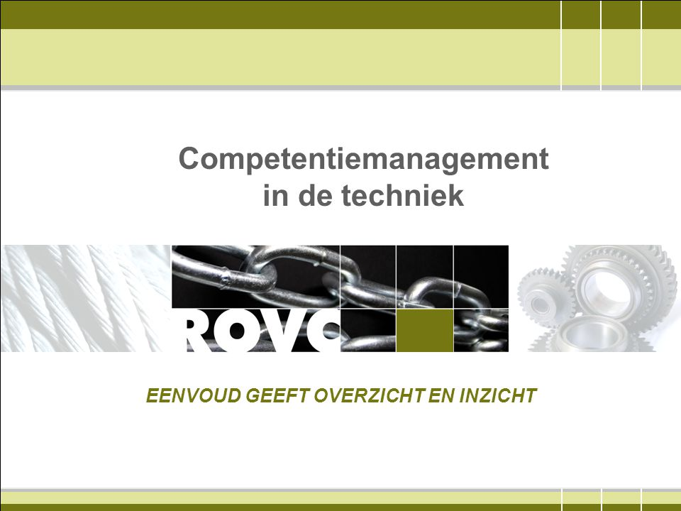 Competentiemanagement in de techniek