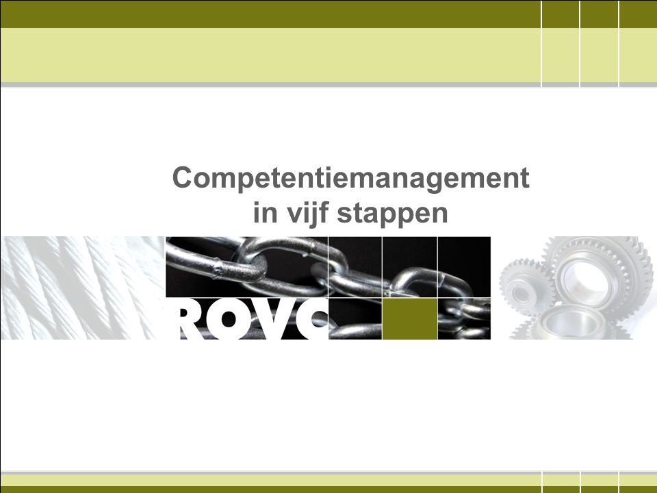 Competentiemanagement in vijf stappen