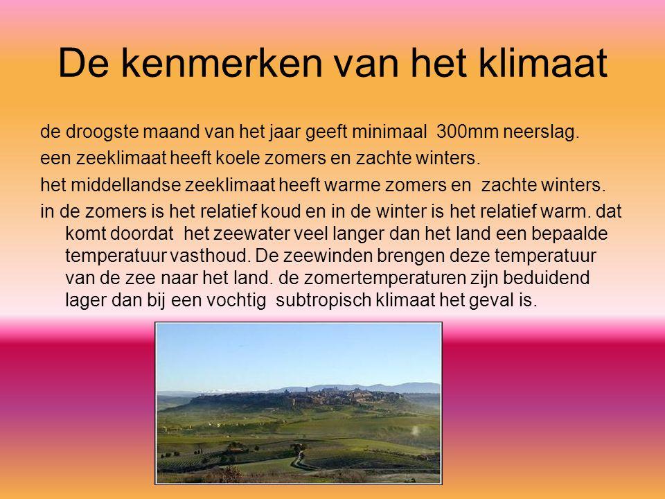 De kenmerken van het klimaat