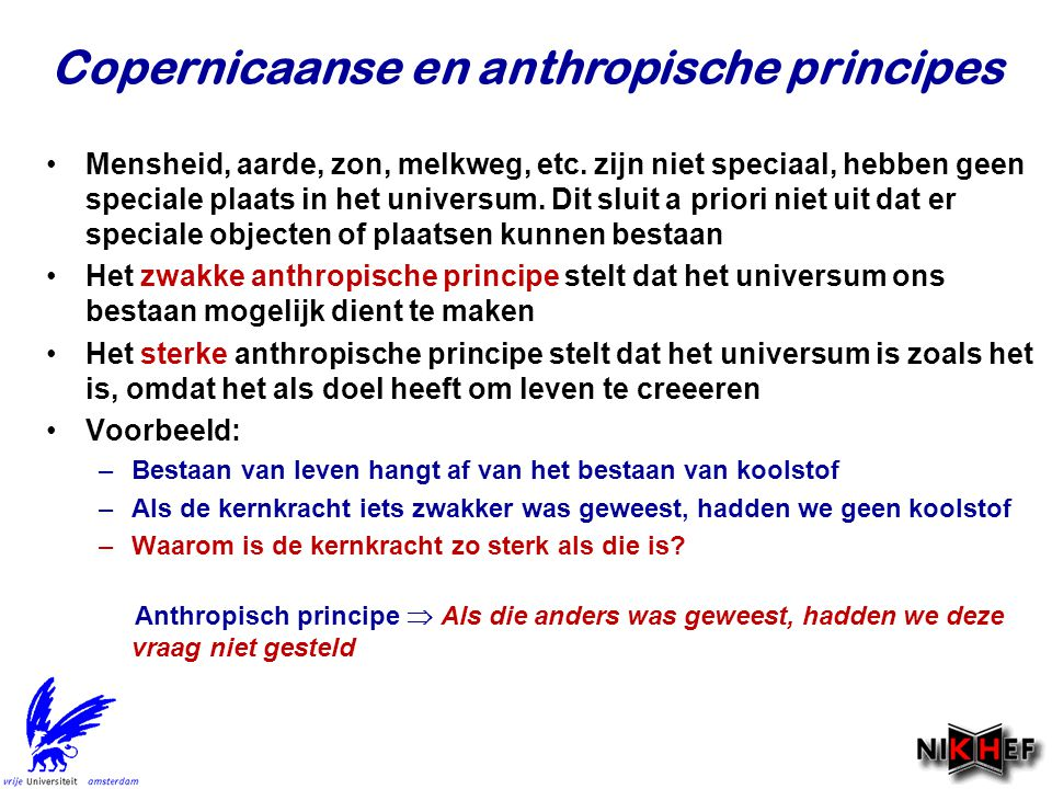 Copernicaanse en anthropische principes