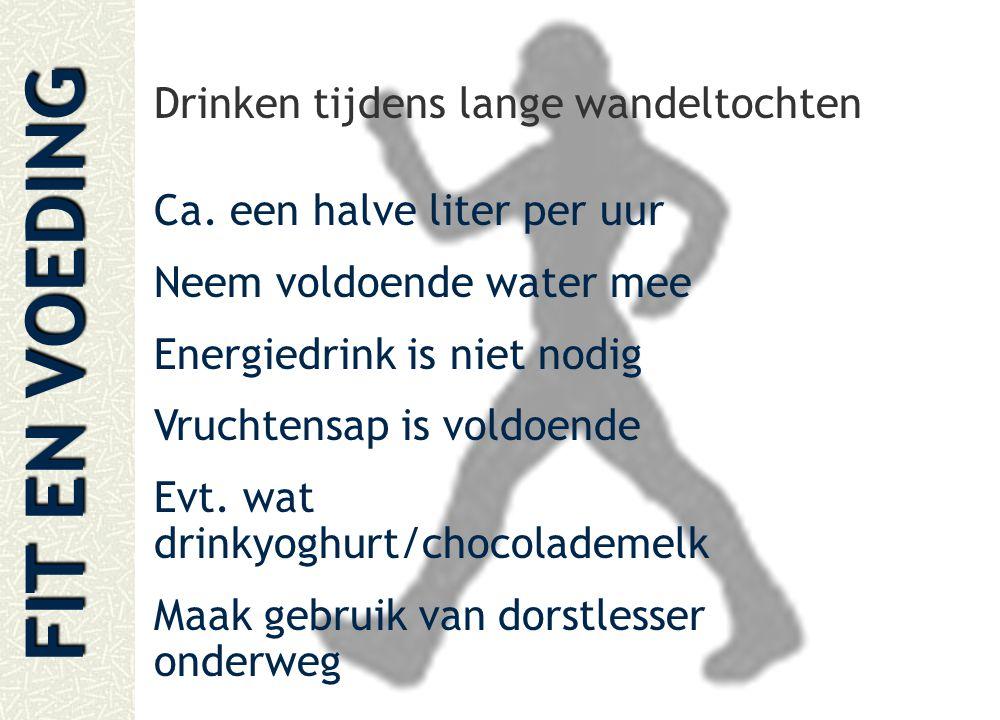 Drinken tijdens lange wandeltochten